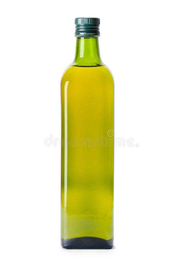 Bottle of olive oil royalty free stock photo
