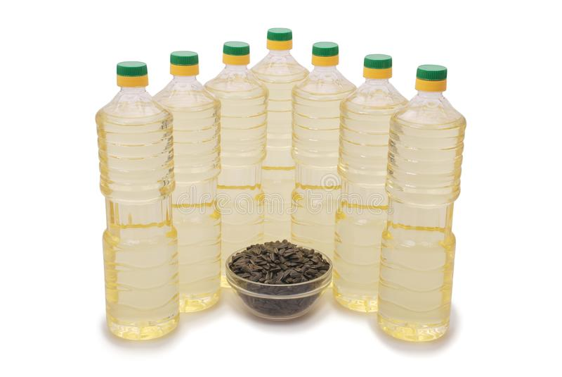 bottle oljesolrosen arkivbilder