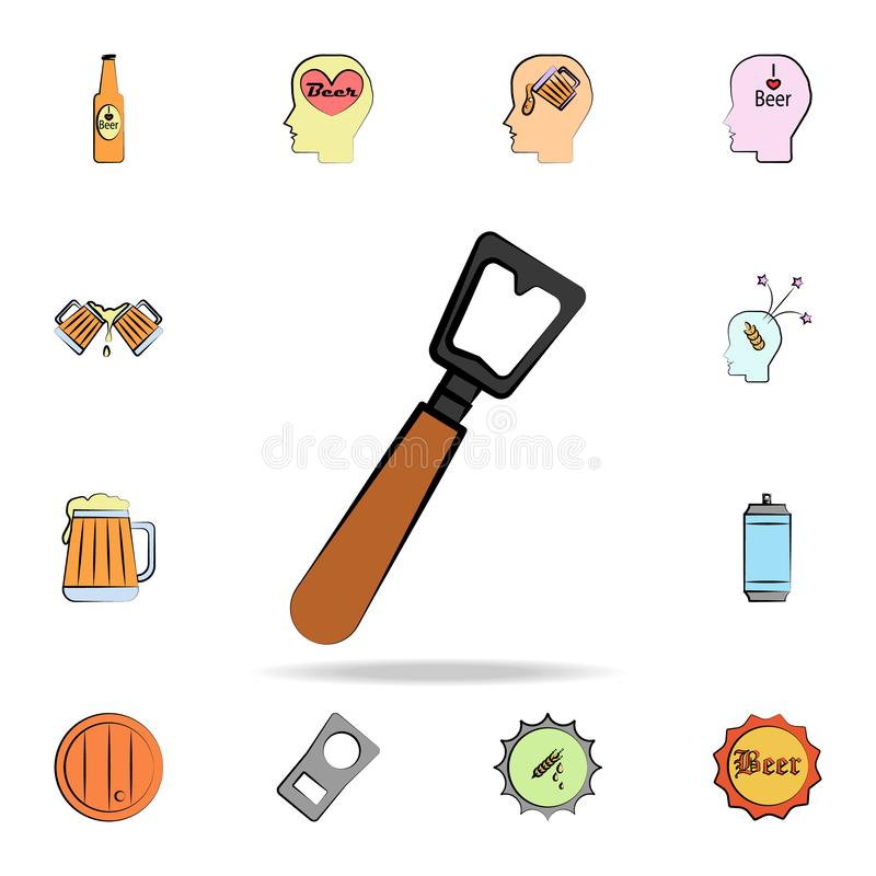 Bottle opener colored sketch style icon. Detailed set of color beer in hand drawn style icons. Premium graphic design. One of the. Collection icons for websites vector illustration