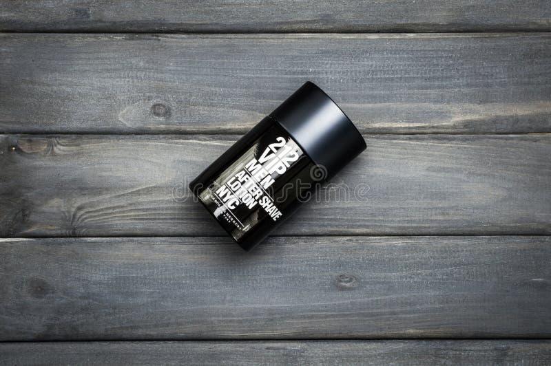 Bottle package of Carolina Herrera fragrance for men after shave stock photo