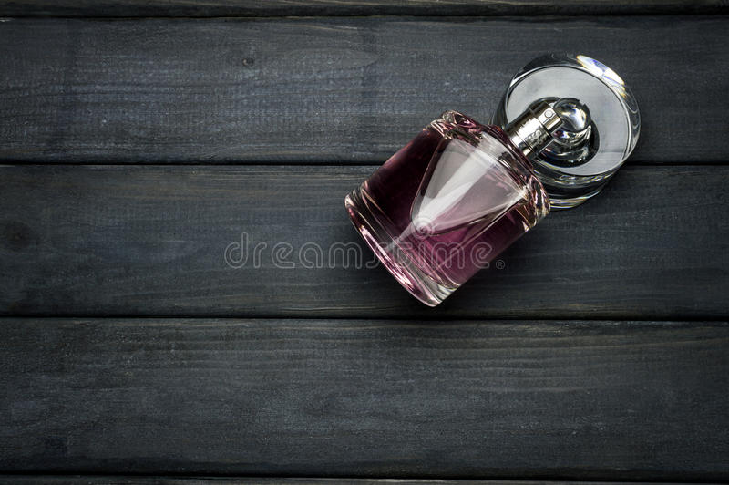 A bottle package of pink BOSS Femme fragrance for women by Hugo Boss stock photography