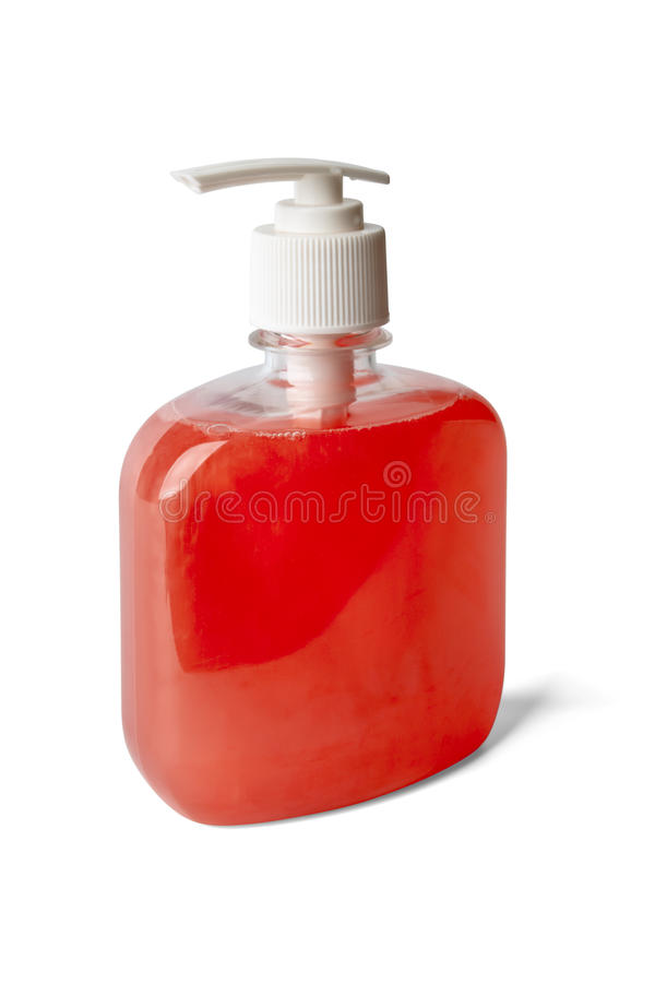 Download Bottle Of Pearl - Reddish Liquid Soap Stock Image - Image: 19730177
