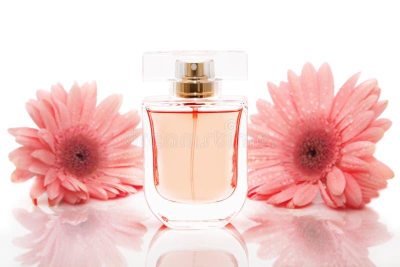 Bottle of perfume stock photo