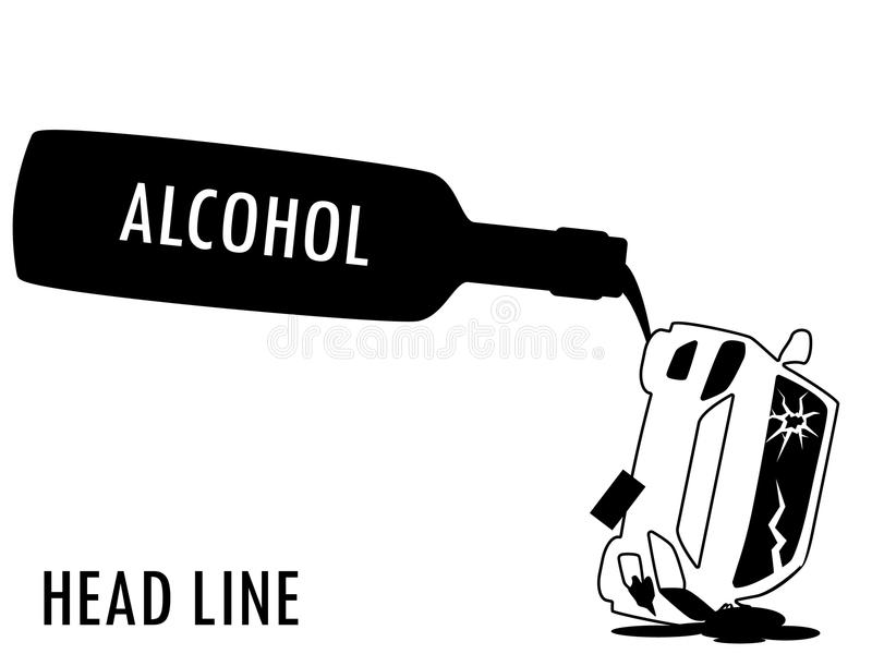 drinking and driving stock illustration  illustration of bottle