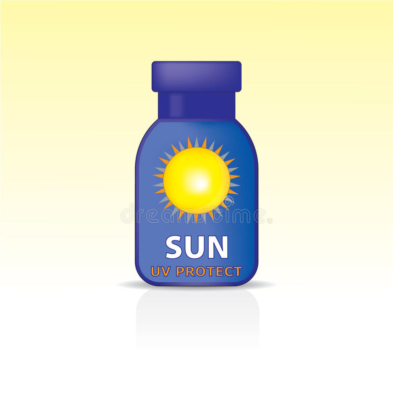 Download Bottle With A Protective Sunscreen. Stock Vector - Image: 25452338