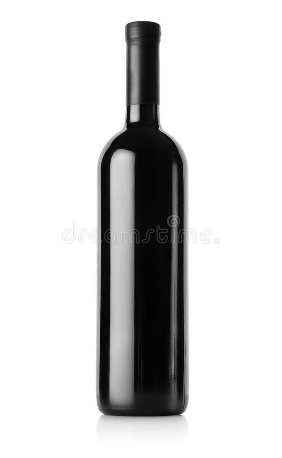 Bottle of red wine stock photo