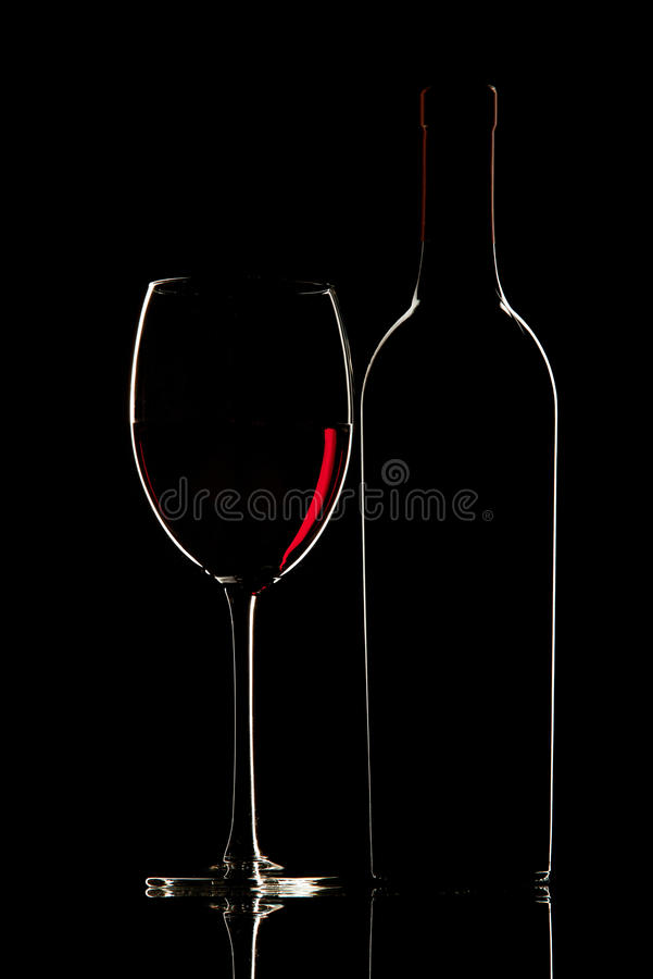 Download Bottle With Red Wine And Glass Royalty Free Stock Photos - Image: 30591188