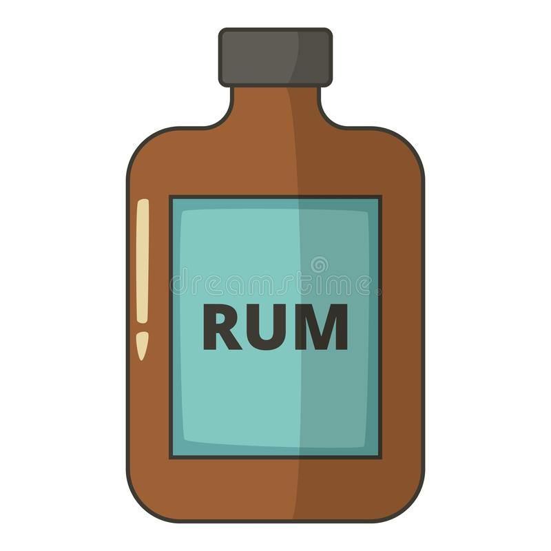Bottle of rum icon, cartoon style. Bottle of rum icon. Cartoon illustration of bottle of rum vector icon for web design vector illustration