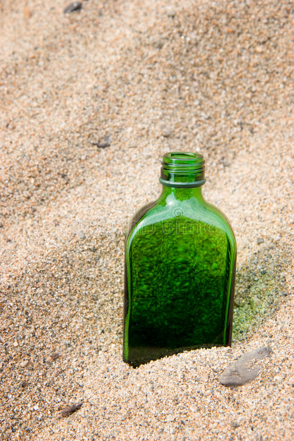 Download Bottle in sand stock image. Image of beach, bottle, empty - 9097251