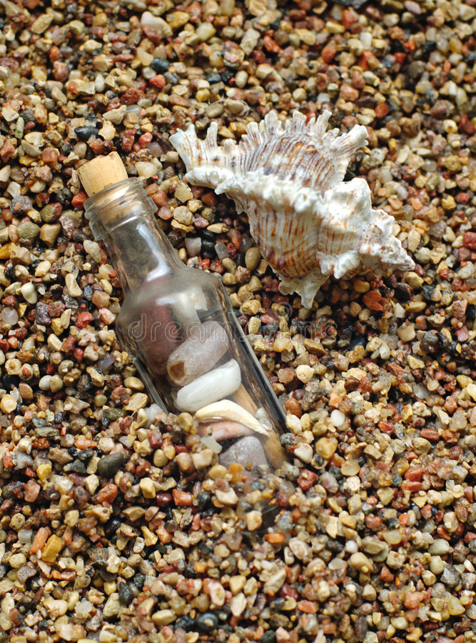 Download Bottle On Sea-beach Background Stock Photo - Image: 4080848