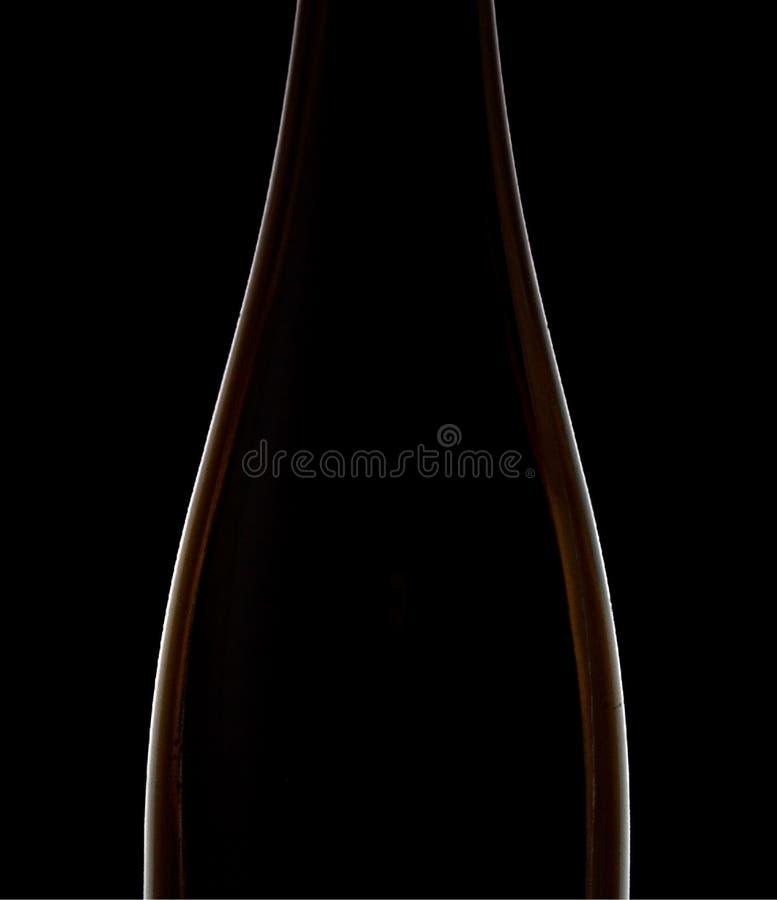 bottle silhouettewine royaltyfria bilder