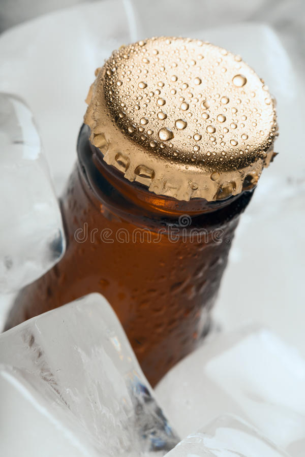 Bottle with soft drinks. royalty free stock photo