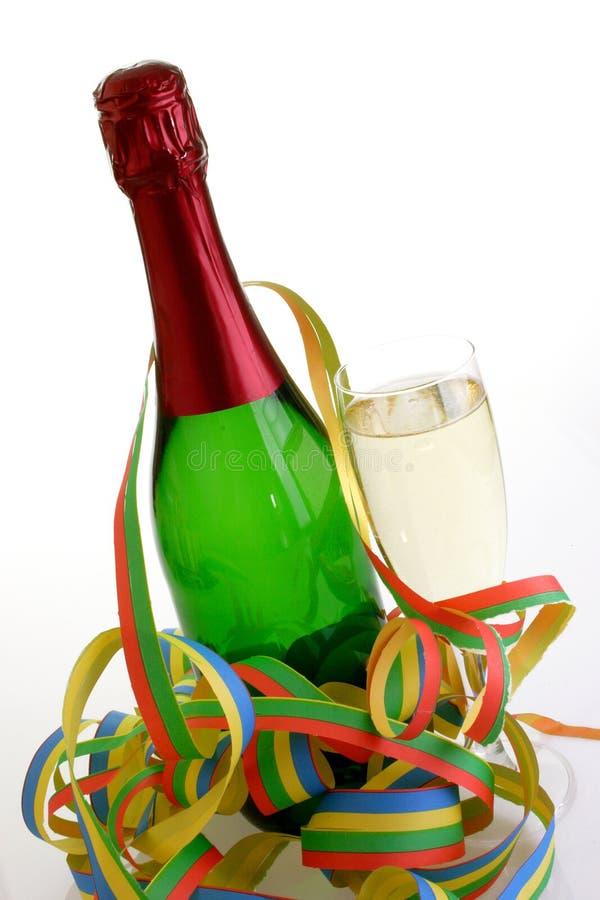 Bottle of sparkling wine stock images