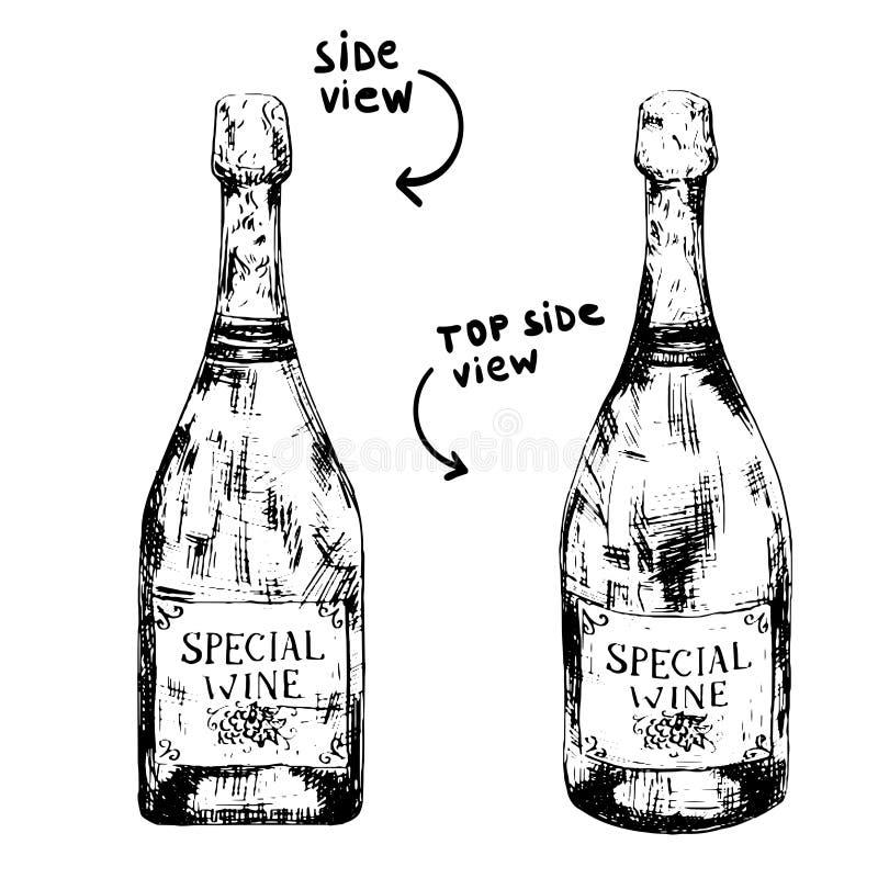 Bottle of sparkling wine royalty free stock photo