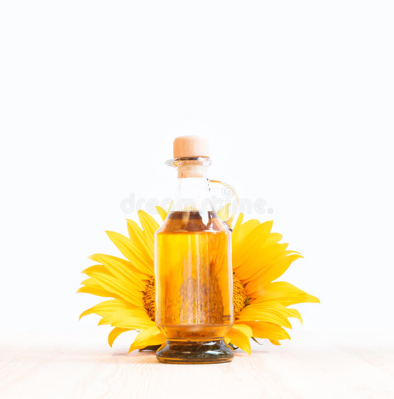 Bottle of sunflower oil. royalty free stock photography