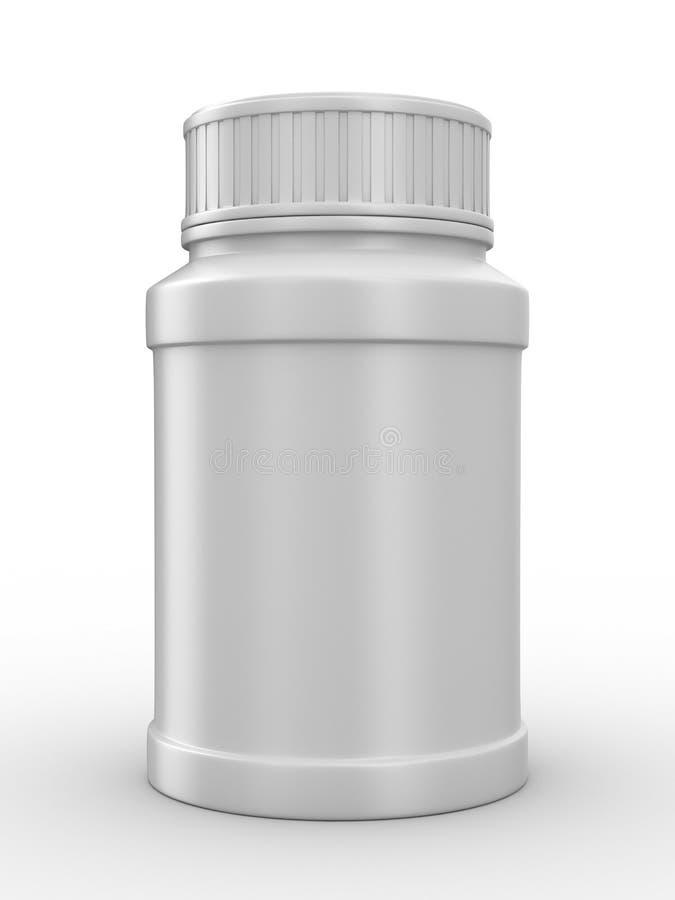 Bottle for tablets on white background vector illustration