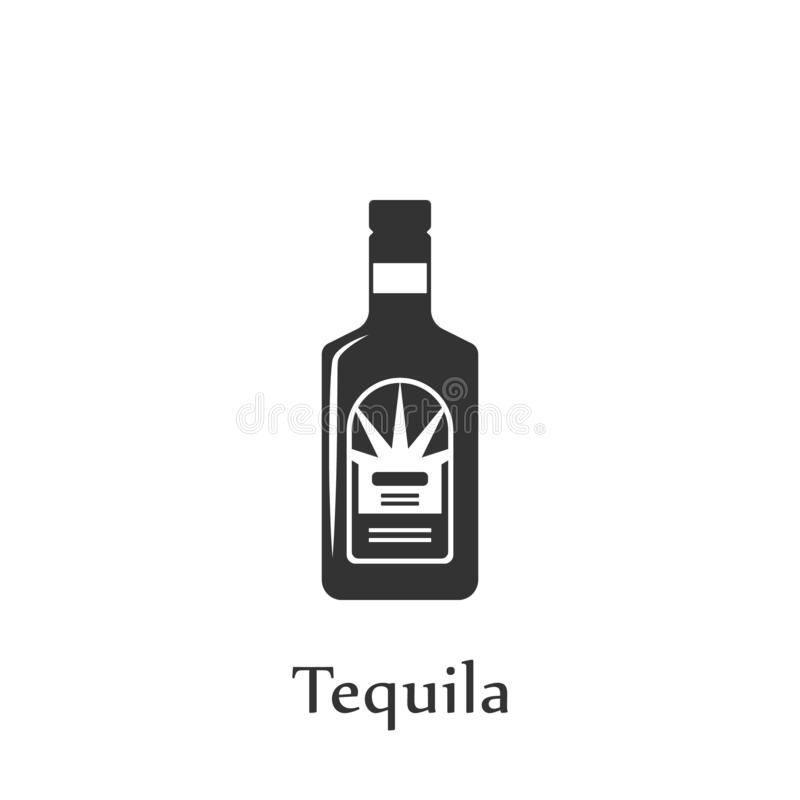 A bottle of Tequila icon. Element of drink icon for mobile concept and web apps. Detailed A bottle of Tequila icon can be used for vector illustration
