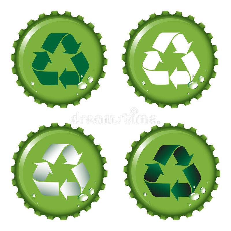Bottle tops recycle royalty free illustration