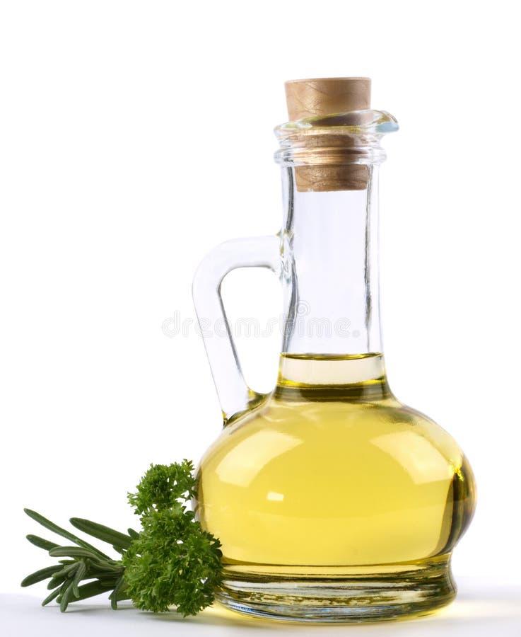 Bottle of vegetable oil royalty free stock photos