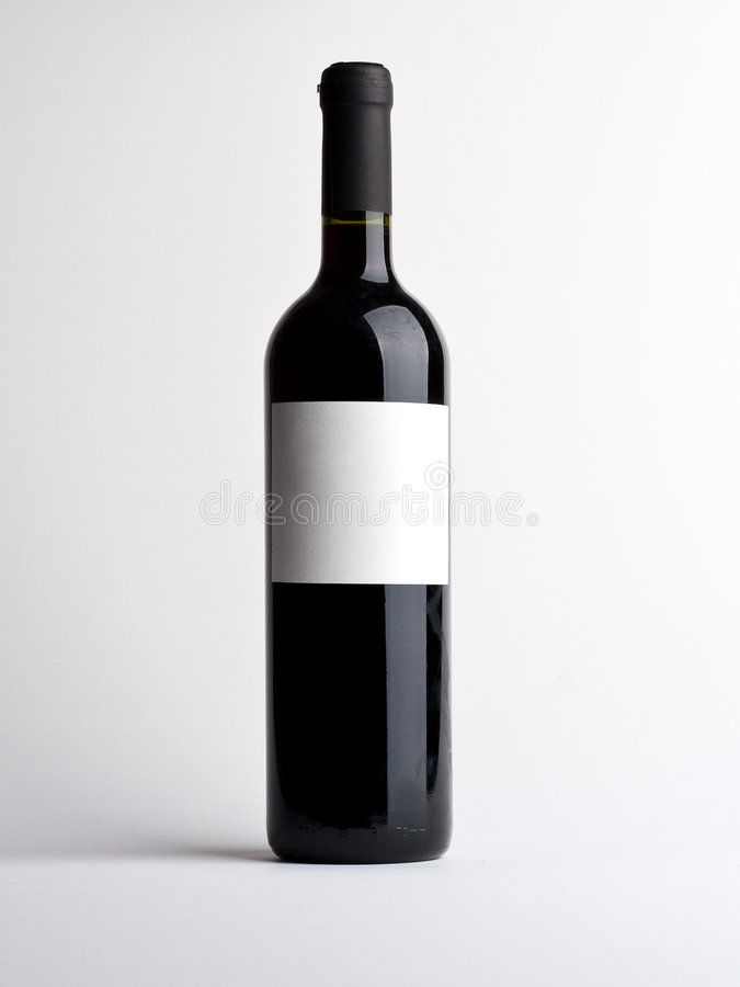 Download Bottle Of Vine With Empty Label Stock Image - Image: 8579711