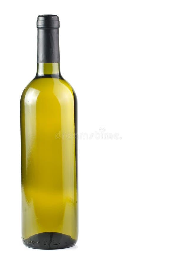 bottle vit wine arkivfoton