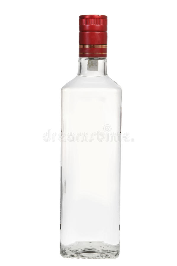 Bottle of vodka stock photos
