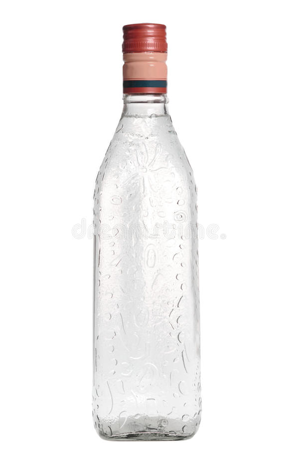 Bottle of vodka royalty free stock photo