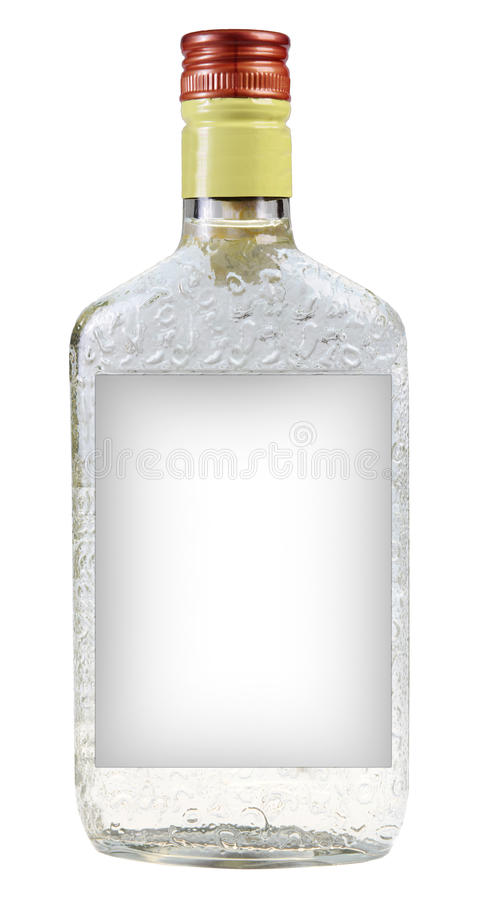A bottle of vodka royalty free stock images