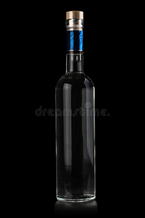 Bottle of vodka. stock images