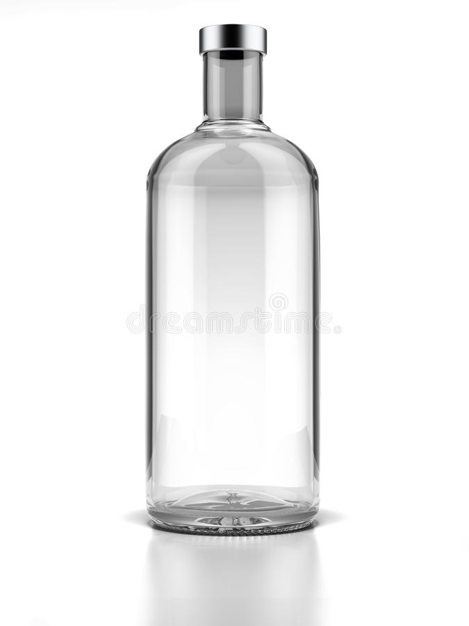 Bottle of vodka. Isolated on a white background