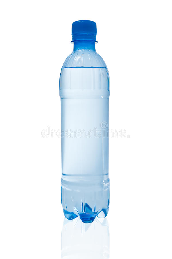 Bottle of water. Plastic bottle full of water on white background royalty free stock photos