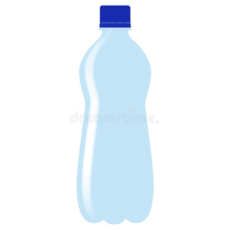 Bottle of water. Colored drawing Vector illustration isolated stock illustration