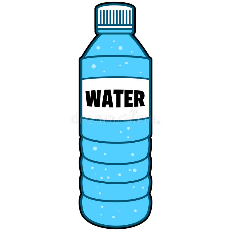 Bottle of Water. Cartoon illustration of a Bottle of Water royalty free illustration