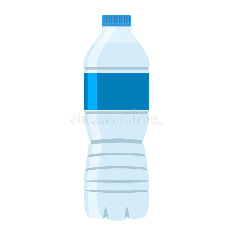 bottle of water icon flat style vector stock vector
