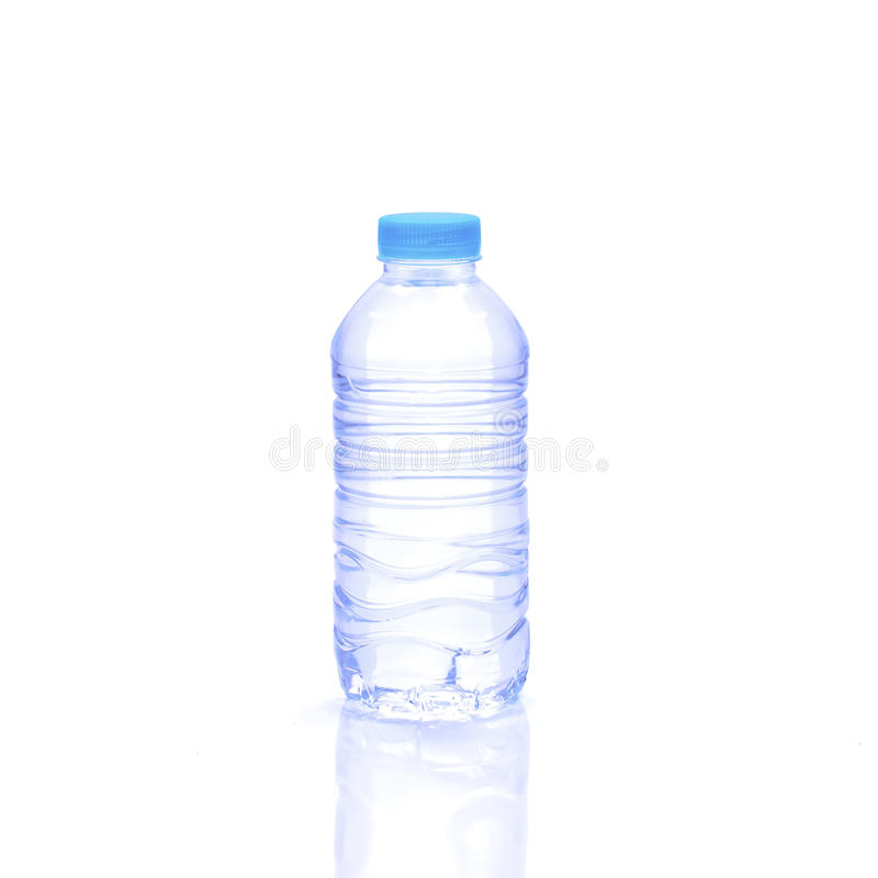 Bottle water isolated on white background stock photography