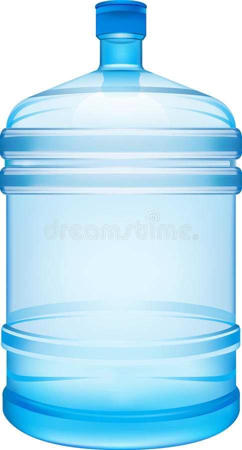 Bottle. Water plastic drink object stock illustration