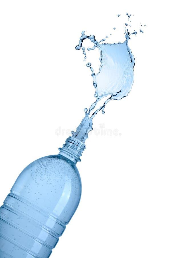 Bottle and water splash stock photos