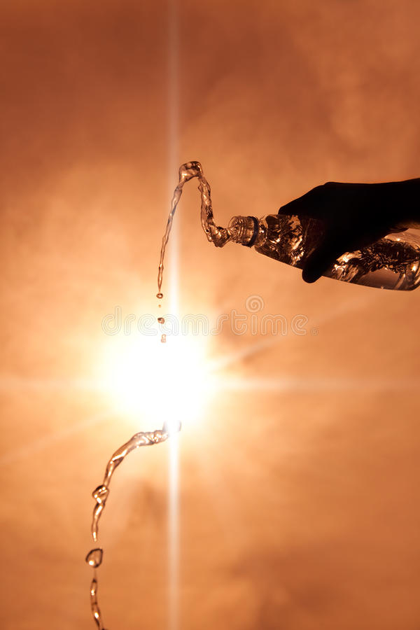 Download Bottle Of Water With Sunlight Stock Image - Image: 25682709