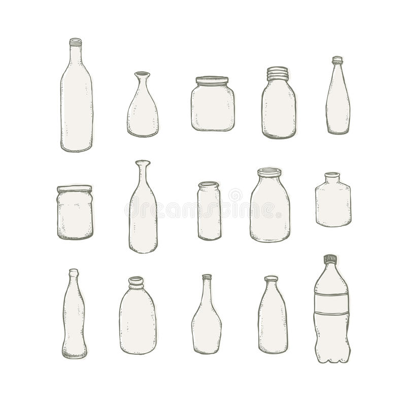 Bottle. On white background. Very easy to edit stock illustration