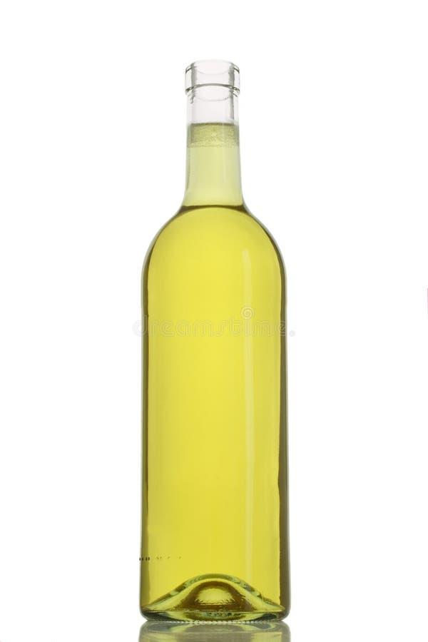 Bottle of white wine stock image