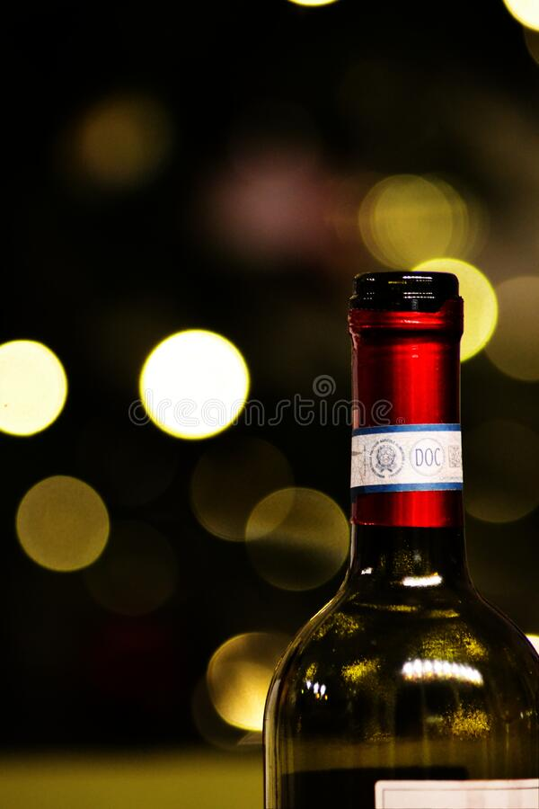Bottle of wine royalty free stock photos