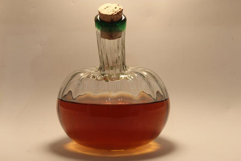 Bottle of wine. Cristal Wine Studio Flashes stock image