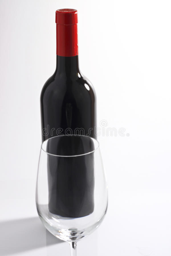 Bottle of wine and the glass. royalty free stock photo