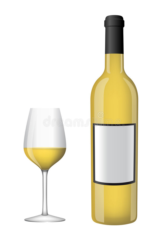Download Bottle Of Wine With A Glass Stock Vector - Illustration: 5734352