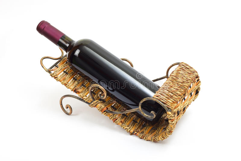 Download Bottle of wine in stand stock image. Image of grape, single - 21769447