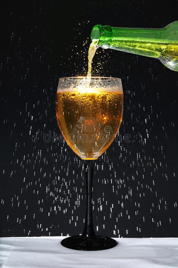 Download Bottle And Wineglass With Condensation Stock Image - Image: 16756677
