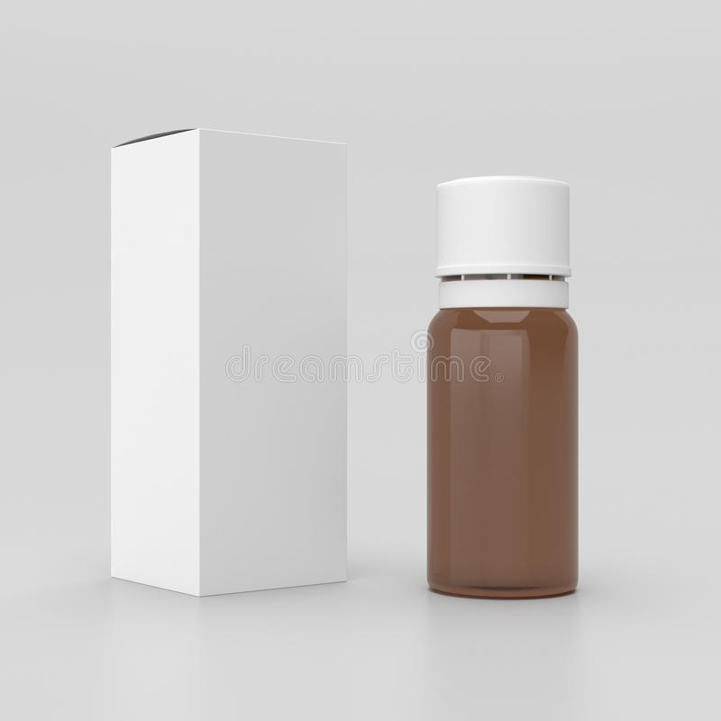 Free Bottle With A Box, 3D Rendering Royalty Free Stock Image - 108567736