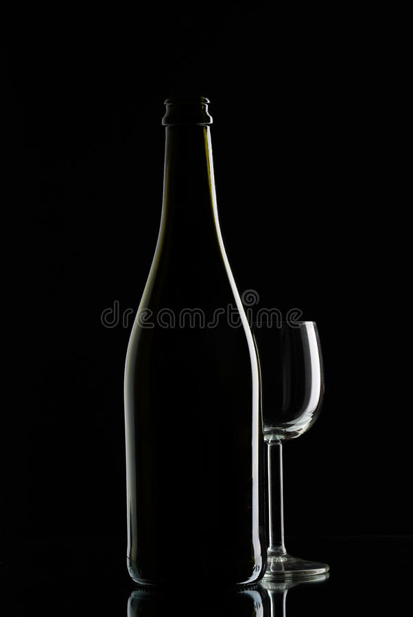 Free Bottle With Glas Wine Stock Images - 14044234