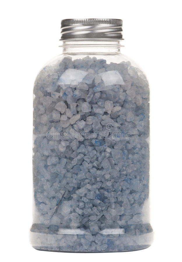 Free Bottle With Salt For Bath Royalty Free Stock Photo - 19553745