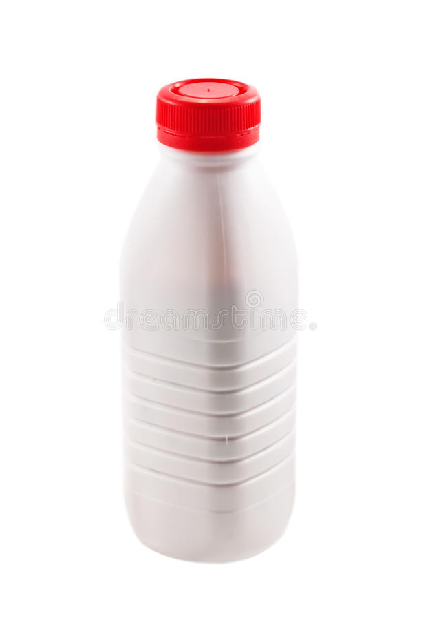 Download Bottle With Yogurt On White Stock Image - Image: 14178823